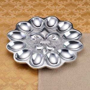Iced Deviled Egg Platter Dish Silver
