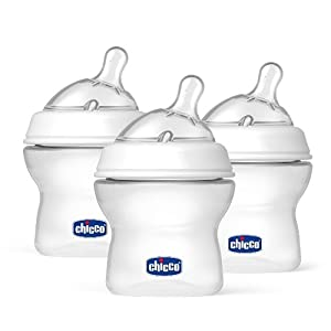 Chicco NaturalFit BPA FREE Baby Bottles and Nipples (5-Ounce Bottles and Newborn Flow Nipples (3-Pack))