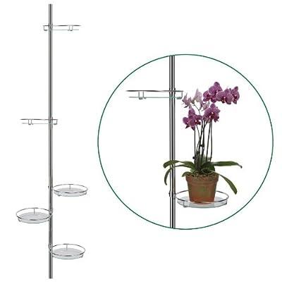 Teleskop Blumenregal 175-275cm Blumenständer Blumentreppe Pflanzenregal 5 Ablagen von Haushalt International - Gartenmöbel von Du und Dein Garten