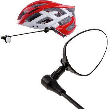 Bike-Helmet-Mirror-with-Flat-Reflective-Surface-Fully-Adjustable-360-Viewing-2-Velcro-Pads-for-Cycling-Safety-Sturdy-Build-Lightweight-Design