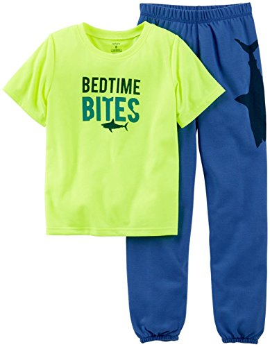 Carter'S Little Boys' 2 Piece Pant Pj Set (Toddler/Kid) - Bedtime Bites - 2T front-134308