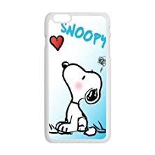 """buy Slim Stylish Protective Laser Print Cute Cartoon Character Snoopy Picture Print Cover Case For Iphone 6 Case 5.5""""-3"""