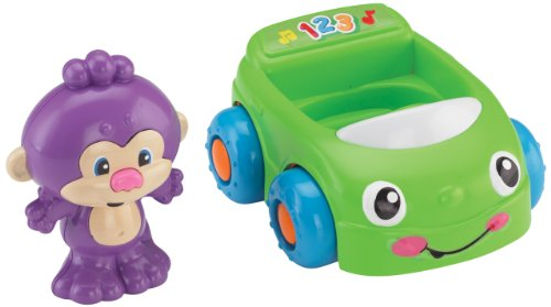 Fisher-Price Laugh & Learn Monkey's Learning Car - 1