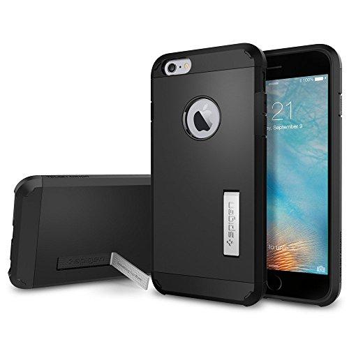 Spigen iPhone6s Plus ケース / iPhone6 Plus ケース, タフ・アーマー [エアクッションテクノロジー] アイフォン6s プラス /  6 プラス 用 米軍MIL規格取得 耐衝撃カバー (ブラック SGP11660)