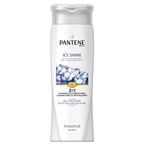 Pantene Pro-V Ice Shine 2in1 Shampoo + Conditioner 12.6 Fluid Ounce (Pack of 2) (packaging may vary)