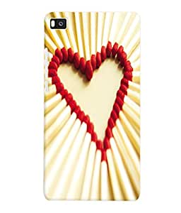 Fuson 3D Printed Valentine Designer Back Case Cover for Huawei Honor P8 - D631