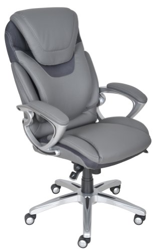 Serta 43807 Air Health And Wellness Executive Office Chair, Light Grey front-354699