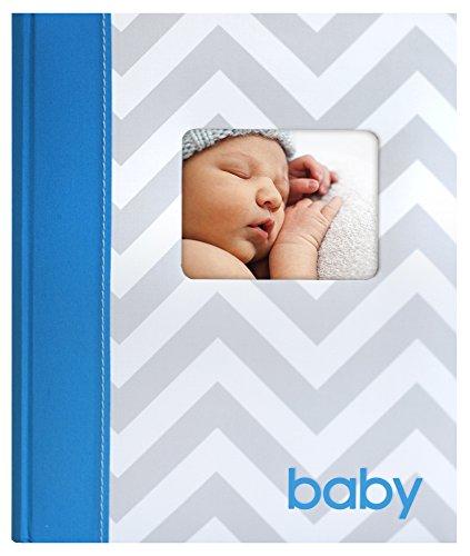 Pearhead Chevron Babybook, Blue