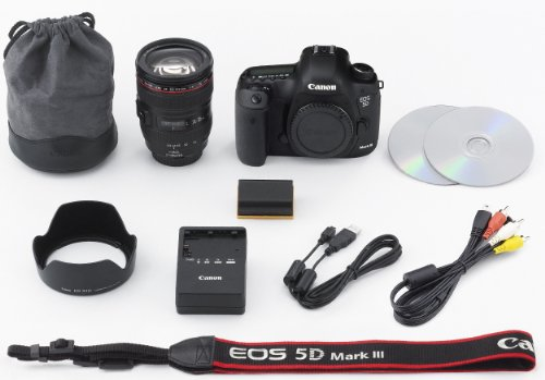 Canon デジタル一眼レフカメラ EOS 5D Mark III EF24-105L IS レンズキット 約2230万画素フルサイズ DIGIC 5+(プラス) 3.2型ワイド液晶モニター EOS5DMK3LK