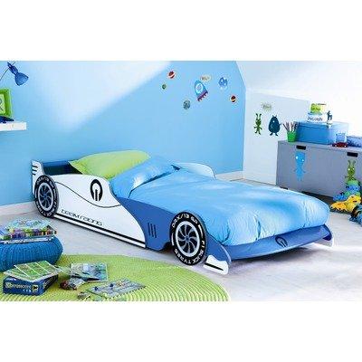 Bester Preis Autobett GP blau weiß F1 Bett Formel 1 Kinderbett