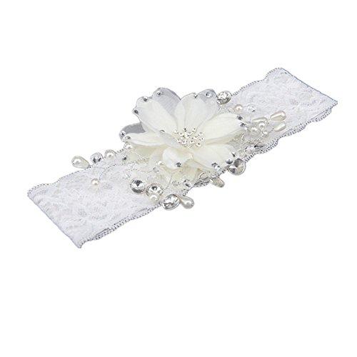 TRLYC Crystal Lace Wedding Bridal Garter Vintage Rhinestone Crystal Bridal Garters