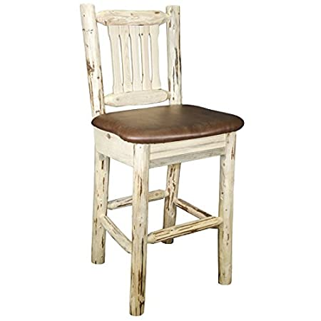 Montana Barstool with Upholstered Saddle Pattern Seat