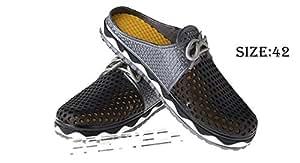 Men Breathable Leisure Shoes Beach Sandals (Size 42/Black) - Men, Size 42, Black