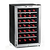 Wine Enthusiast Silent 28 Bottle Wine Refrigerator -Stainless Steel Trim Door