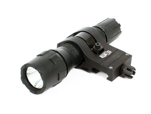 Streamlight Polytac Led Flashlight With Elzetta Zorm Tactical Flashlight Mount With Offset Position