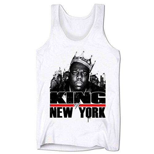 Bang Tidy Clothing Men'S Biggie Smalls King Of New York Low Cut Vest White M