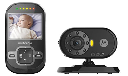 Motorola MBP26-B Remote Wireless Baby Monitor with 2.4-Inch Color LCD Screen, Infrared Night Vision and Remote Camera Pan