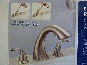 Glacier Bay Builders 2 Handle Deck Mount Roman Tub Faucet Brushed Nickel B