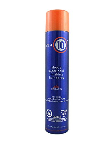 It's a 10 Miracle Super Hold Finishing Hair Spray Plus Keratin, 10 Ounce (Keratin Hair Spray compare prices)