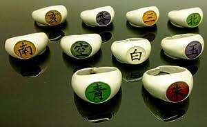 Topbill Naruto Uzumaki Cosplay Full Rings Set 10 Pieces