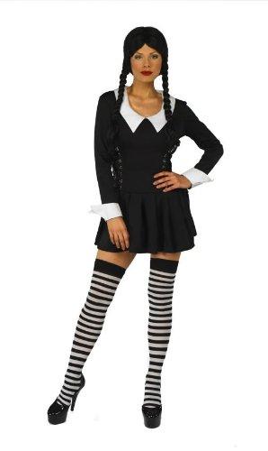 [Wednesday Addams Style Halloween Fancy Dress Costume - XL (US 16-18)] (Wednesday Addams Halloween Costumes)