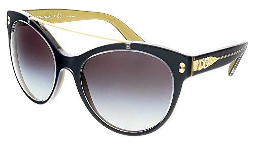 DG-Dolce-Gabbana-Womens-0DG4280-Round-Sunglasses-Top-Black-On-Gold-57-mm