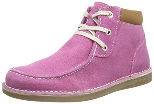 Birkenstock Pasadena High Kinder, Scarpe Derby con lacci Ragazza, Rosa (Rosa (Pink)), 32