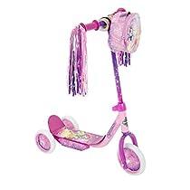Huffy Girls' Disney Princess 3-Wheel Scooter With Handlebar Bag