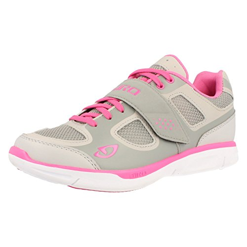 Giro Whynd Womens Road Cycling Shoes Silver/Rhodamine Red 41 (Giro Cycle Shoes Womens compare prices)