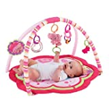Distinctive Bright Starts Pretty In Pink Sweet Safari Activity Gym - Cleva Edition ChildSAFE Door Stopz Bundle