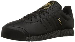 adidas Originals Men's Samoa Retro Sneaker,Black/Black/Gold,6.5 M US