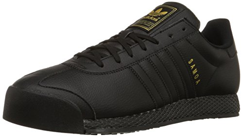 Adidas Originals Men's Samoa Retro Sneaker,Black/Black/Gold,10.5 M US