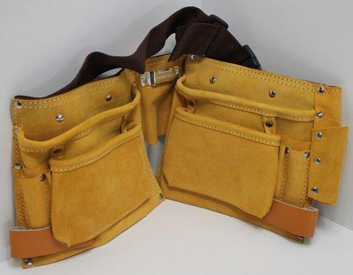 Werkzeuggrtel-Leder-Werkzeugtasche-11-Taschen-3-Halter-Werkzeug-Grtel