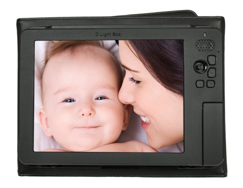 """Digital Foci 8"""" - Portable Digital Photo Album/Frame Viewer with Battery and Portable - D-Light Box (DLB-081) (Black)"""