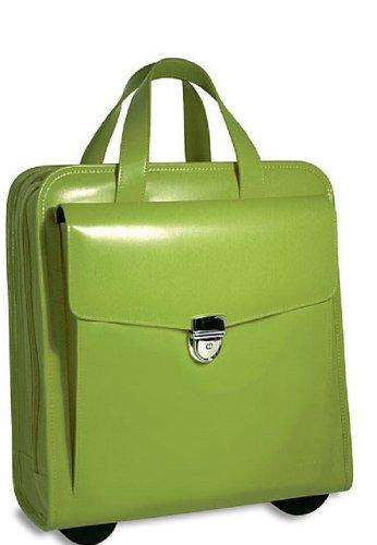 Milano Italian Leather Vertical Laptop Wheeler (Lime)
