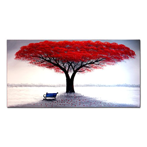 fly-spray-1-piece-100-hand-painted-oil-paintings-stretched-framed-ready-hang-flower-landscape-tree-f