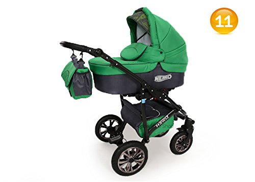 Baby-Pram-Stroller-Buggy-Car-Seat-Carrycot-Travel-system-FREEBIES-12-Colours-SWIVEL-WHEELS