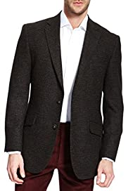 Pure New Wool Mini Checked Jacket [T19-5263-S]