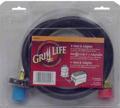 ACE TRADING-GRILL ACC 4 BBQ-467927 HOSE WITH ADAPTOR FOR TABLE TOP GRILL 4Ft.