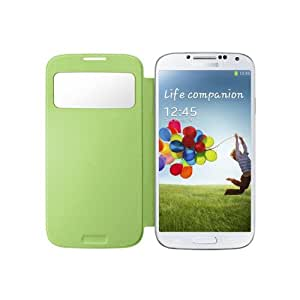 Gearonic AV-5389-Green-s4 PU Leather Slim Flip Case Smart Cover Replacement Back Cover for Samsung Galaxy S4 i9500 - Non-Retail Packaging - Green