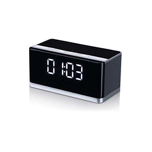 wireless speakers basse 10w premium stereo portable bluetooth speaker with lcd time display. Black Bedroom Furniture Sets. Home Design Ideas