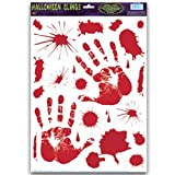 Bloody Handprint Clings Party Accessory (1 count) (22/Sh)