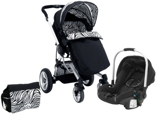 Petite Star Kurvi Abstract Pushchair Including Ali Handle Car Seat, Footmuff, Change Bag and Liner (Tribal)