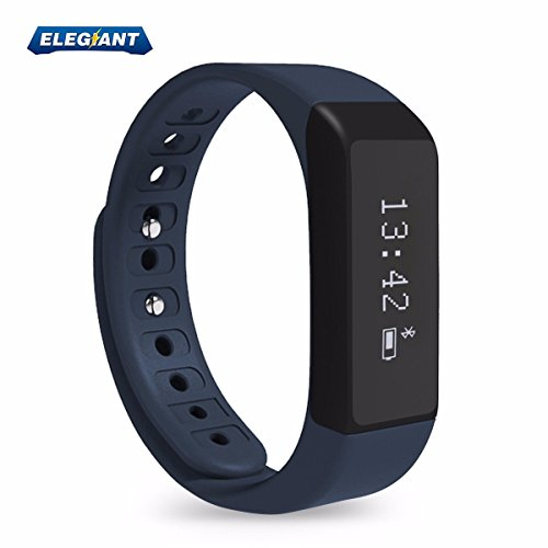 ELEGIANT Wireless Bluetooth 4.0 Fitness Tracker Slim-design Smart Wristband Sports