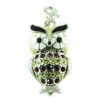 Charms Strass Eule Charm Bettelarmband 10416