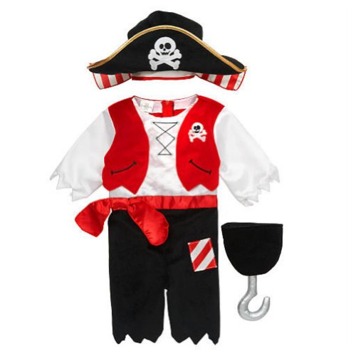 Koala Kids Infant & Toddler Boys Pirate Costume with Hat & Plush Toy Hook