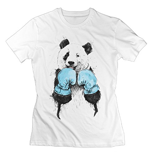 Womens Panda Boxer Graphic Design Colleges Tee-shirts (Vape Mod Washers compare prices)