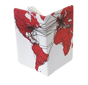 Airlines Route Map Moleskine Notebook Cover