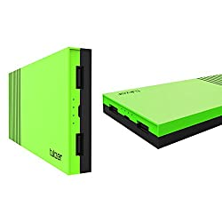 Tukzer 15000mAh Power Bank High Quality Li-Polymer External Battery With Dual USB 2.0A Output (Green)