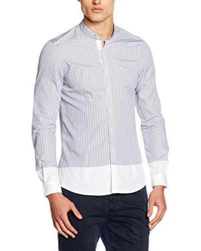 Primo Emporio Camisa Hombre Blanco / Gris